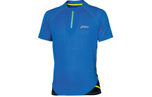 Asics Fuji  tshirt sport Homme SS, 1/2 Zip bleu